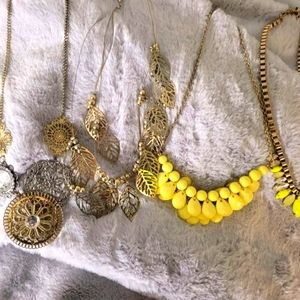Statement necklace lot